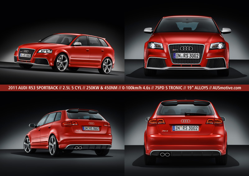 audi rs3 official specs. Black Bedroom Furniture Sets. Home Design Ideas